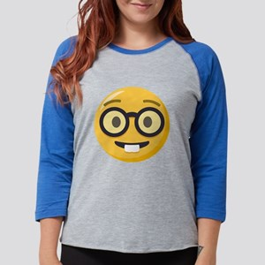 Nerd-face Emoji Womens Baseball Tee