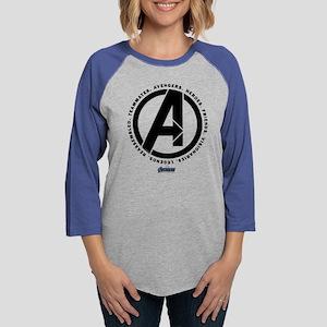 Avengers Endgame Logo Womens Baseball Tee