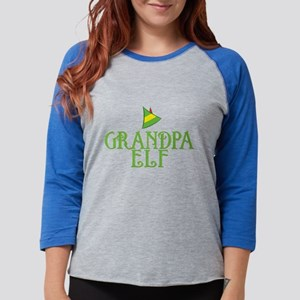Grandpa Elf Womens Baseball Tee
