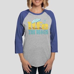 Life's Better Beach Womens Baseball Tee