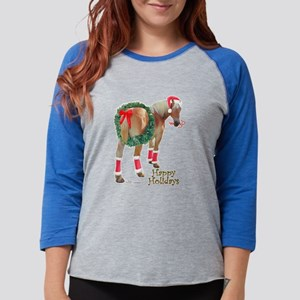 Christmas Draft Horse Belgian Long Sleeve T-Shirt