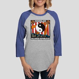 Fair and Balanced Republican Womens Baseball Tee