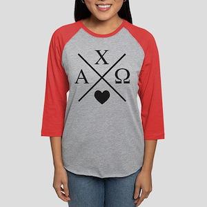 Alpha Chi Omega Cross Womens Baseball Tee