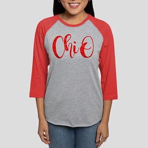 Chi Omega ChiO Womens Baseball Tee
