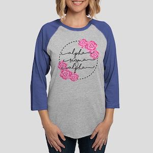 alpha sigma alpha floral Womens Baseball T-Shirt