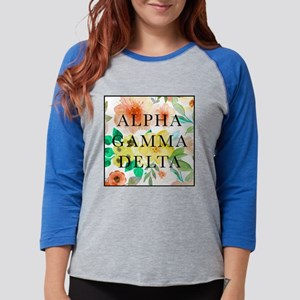 Alpha Gamma Delta Floral Womens Baseball Tee