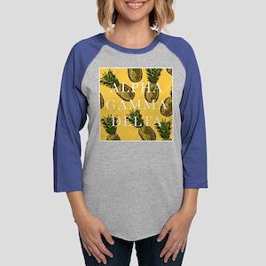 Alpha Gamma Delta Pineapples Womens Baseball Tee