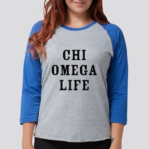 Chi Omega Life Womens Baseball Tee