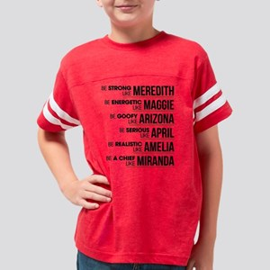 Be Strong like Meredith Youth Football Shirt