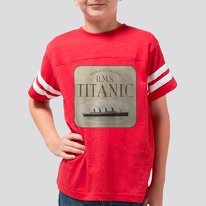 RMS Titanic Sepia Youth Football Shirt