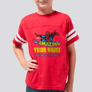 Personalized Amazing Spiderman Youth Football Shir