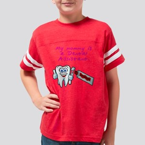 MommyDentalAssistantDark Youth Football Shirt