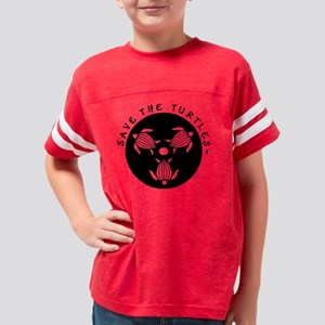 SAVE THE TURTLES BLACK LOGO D Youth Football Shirt
