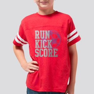 run-kick-score-darks Youth Football Shirt