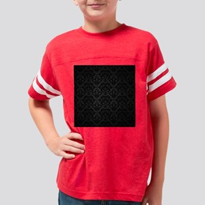 Elegant Black Youth Football Shirt