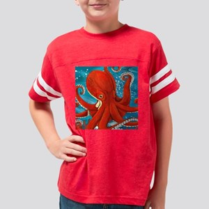 Octopus Painting Youth Football Shirt