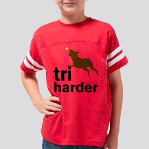 Tri Harder Three Legged Boxer Youth Football Shirt