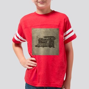 Vintage Typewriter Youth Football Shirt
