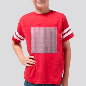 Pink Gingham Youth Football Shirt