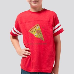 Yummy Pizza Heart Pun Humor Youth Football Shirt