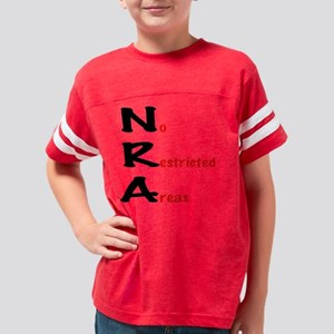 NRA - No Restricted Areas log Youth Football Shirt