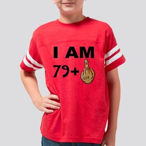 Middle Finger 80th Birthday Youth Football Shirt
