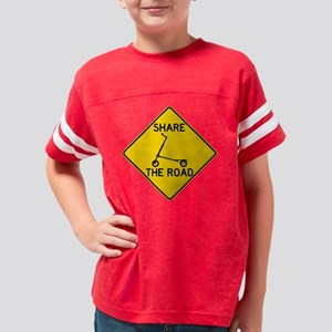 Trikke Share the Road Sign Youth Football Shirt