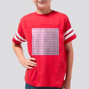 Hot pink gingham Youth Football Shirt