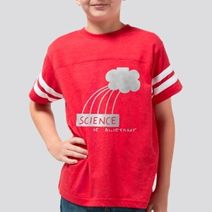 ScienceIsAwesome_white Youth Football Shirt