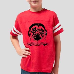 pug_4red2 Youth Football Shirt