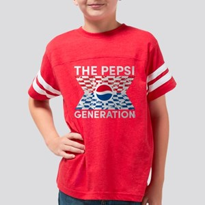Pepsi Generation Checkered Youth Football Shirt