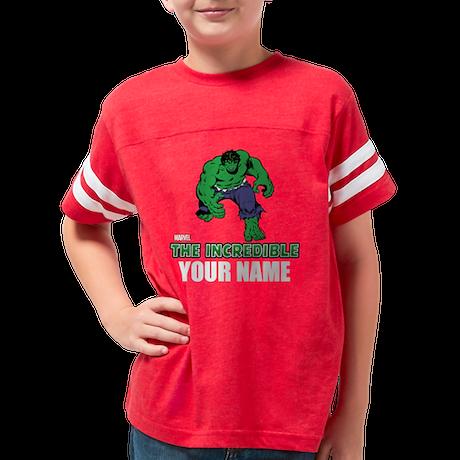 Personalized Incredible Hulk Youth Football Shirt