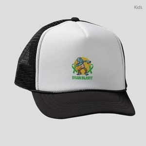 Brain Tumor Awareness Brain Surge Kids Trucker hat
