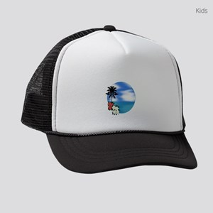 PALM SWEPT Kids Trucker hat