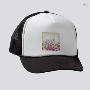Abstract Floral Kids Trucker hat