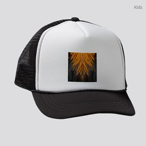 Abstract Feathers Kids Trucker hat