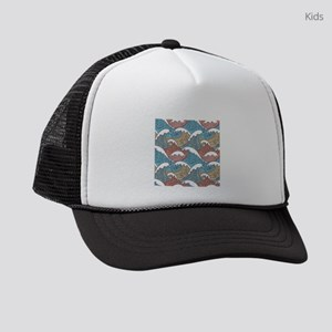 Colorful Waves Kids Trucker hat
