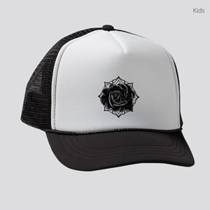 Black Rose On Gothic Kids Trucker hat