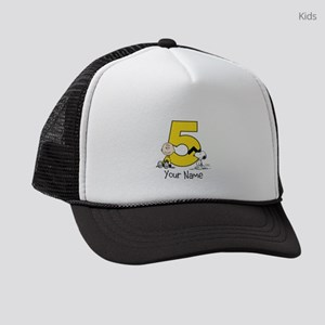 Peanuts Personalized 5th Birthday Kids Trucker hat