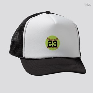 Softball Number Personalized Kids Trucker hat