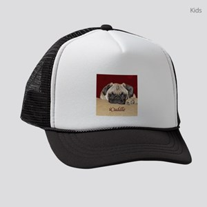 Adorable iCuddle Pug Puppy Kids Trucker hat