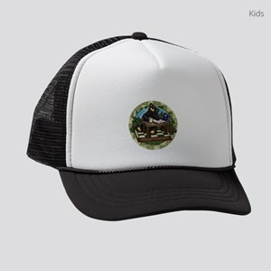 Coffee Drinking Bear Kids Trucker hat
