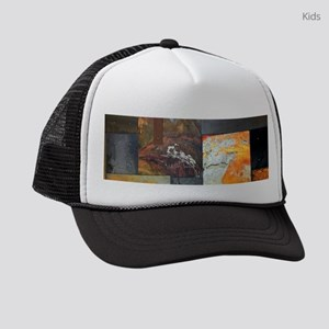 contemporary rusted metal steampu Kids Trucker hat