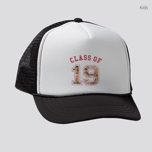 Class of 19 Floral Pink Kids Trucker hat