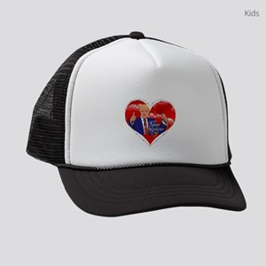 happy valentines day donald trump Kids Trucker hat