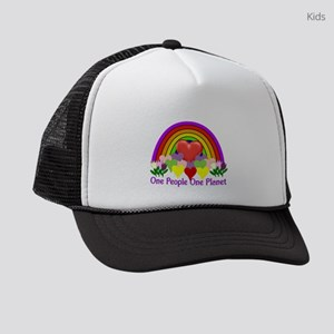 One People One Planet Kids Trucker hat