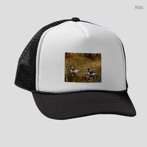 Bufflehead swimming in the winter Kids Trucker hat