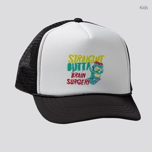 Brain Tumor Awareness Straight Ou Kids Trucker hat
