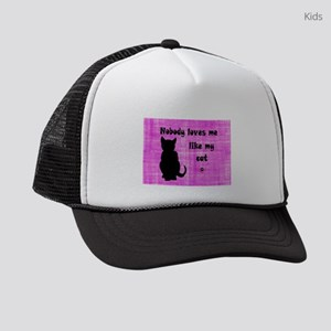 Nobody Loves Me Like My Cat Kids Trucker Hat