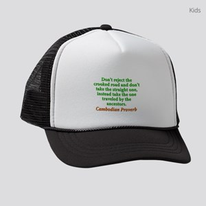 Dont Reject the Crooked Road Kids Trucker hat